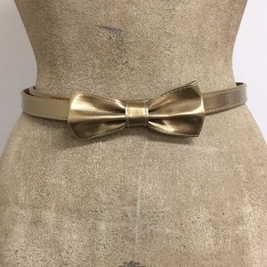 Cute Retro Gold Bow Belt